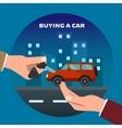 Buying car Man gets keys vector image vector image