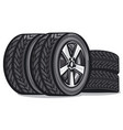 car tyres vector image