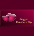 card for valentines day vector image vector image