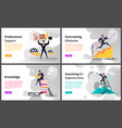 career building and business growth web pages vector image vector image