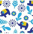 Cartoon seamless pattern with elephants and plant vector image vector image