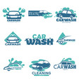 carwash isolated icons car cleaning service vector image