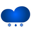 cloud and snow with rain icon vector image vector image