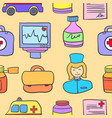 collection of medical cartoon style vector image