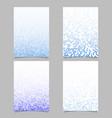 color dot pattern flyer design set - document vector image vector image