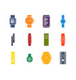 color fitness tracker set vector image