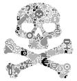 concept human skull vector image vector image
