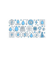 creative hydropower banner vector image