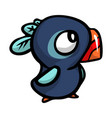 cute funny blue bird with different emotions with vector image vector image