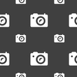 Digital photo camera icon sign Seamless pattern on vector image