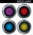 Disco light reflector vector image