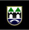 emblem sarajevo city new coat arms vector image