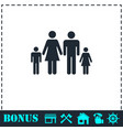 family icon flat vector image vector image