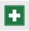 first aid sign vector image vector image