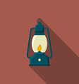 Flat design modern of lantern icon camping and vector image vector image