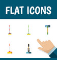 flat icon mop set of besom equipment sweep and vector image vector image