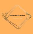 floral elegant botanical card design with vector image vector image