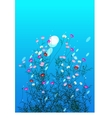 Flowers bush vector image