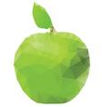 Geometric Green Apple vector image vector image