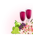 Glass wine fruit