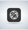globe internet icon over black app button with vector image vector image