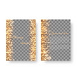gold background with twinkling lights vector image vector image