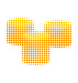 gold coins halftone dotted icon vector image