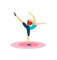 gymnastics daily routine activities of women vector image