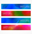 holi banners collection vector image vector image