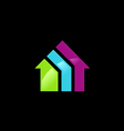 house colorful logo vector image vector image