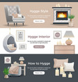 hygge style banners vector image
