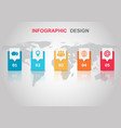infographic design template with reflect vector image vector image