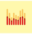 Infographics with red and yellow overlapping bars vector image vector image