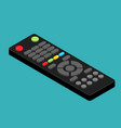isometric black remote tv control flat vector image vector image