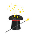 magic cylinder hat isolated icon vector image