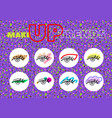 make up stories icons vector image vector image