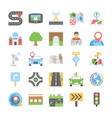 maps and navigation flat icons set 5 vector image vector image