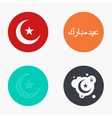 modern eid mubarak colorful icons set vector image