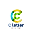 modern minimalistic letter concept logo vector image