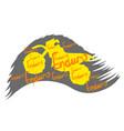 motocross motorbike icon vector image vector image