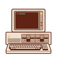 old classic pc personal computer from 1981 vector image vector image
