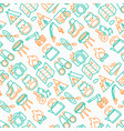 outdoor seamless pattern with thin line icons vector image vector image