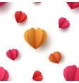 paper heart pattern on white background vector image