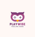 play wise abstract sign symbol or logo vector image vector image