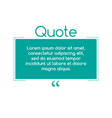 quote text bubble commas note message and comment vector image vector image