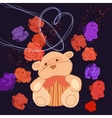 Romantic Bear vector image vector image