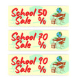 sale school banner icon and logo isolated design vector image vector image