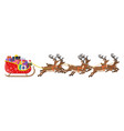 santa claus sleigh full gifts and his reindeers vector image vector image