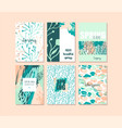 set of abstract creative spring cards fresh vector image