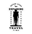 silhouette a traveler poster t shirt design vector image vector image